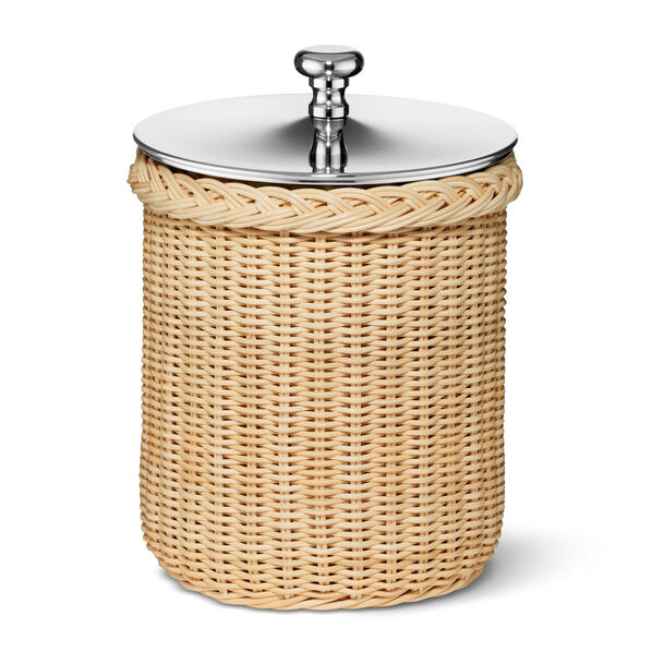 Freya Wicker Ice Bucket with Ice Tongs