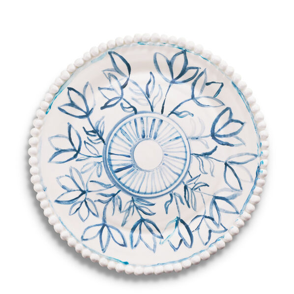 Hand-Painted Flower Plate