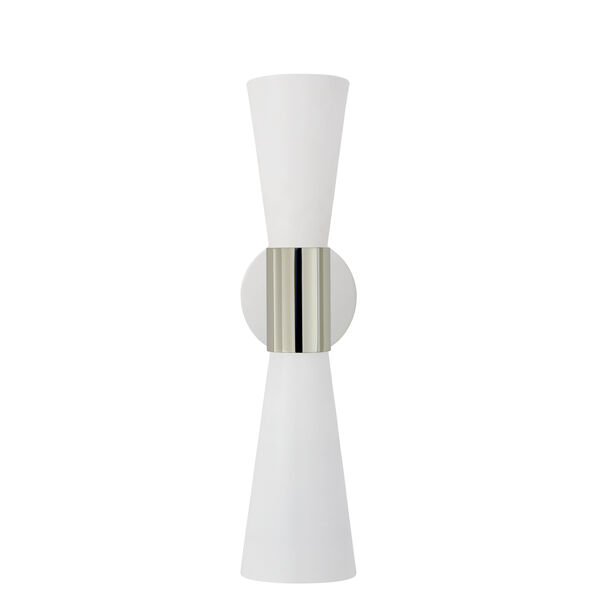 Clarkson Medium Narrow Sconce in Polished Nickel