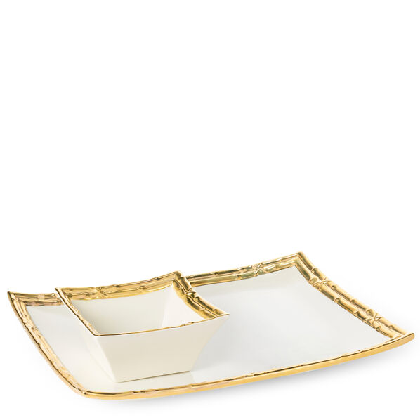 Mayotte Chip and Dip Set, Gold