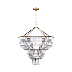 Jacqueline Two-Tier Chandelier with White Acrylic