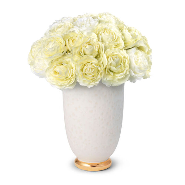 White Ranunculus and Marion Tapered Vase
