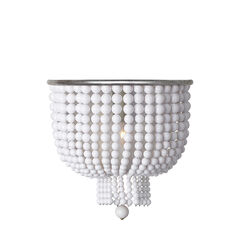 Jacqueline Medium Sconce with White Acrylic