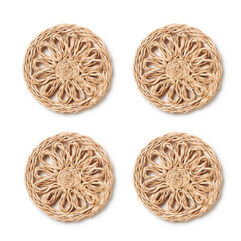 Raffia Coasters, Set of 4