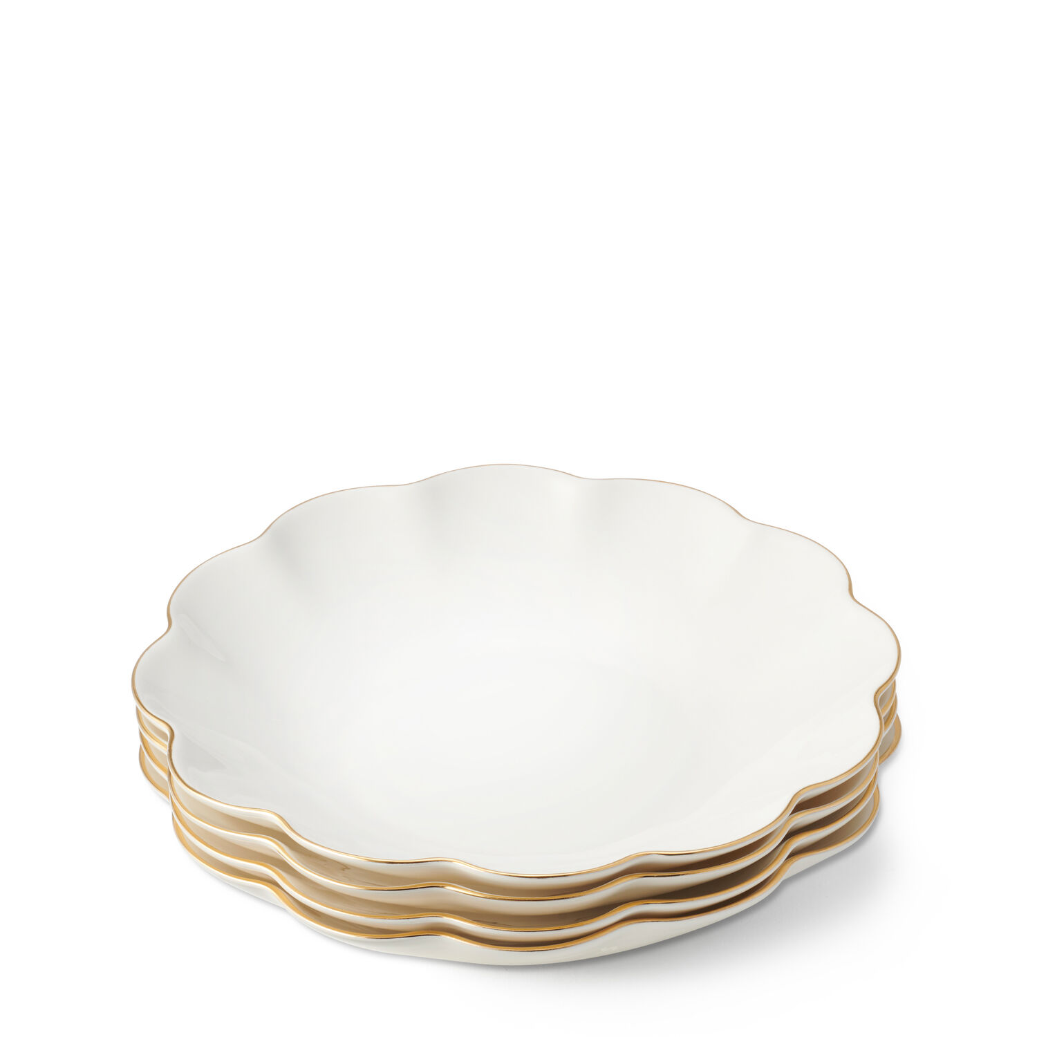 Scalloped Appetizer Plate, Set of 4