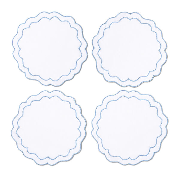 Round Scalloped Coaster, Set of 4