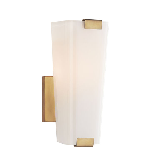 Alpine Small Single Sconce With White Glass