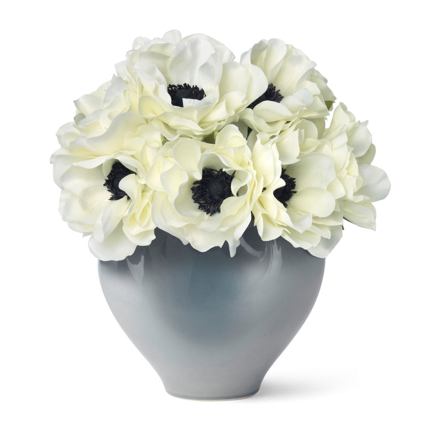 White Anemones and Paola Small Vase