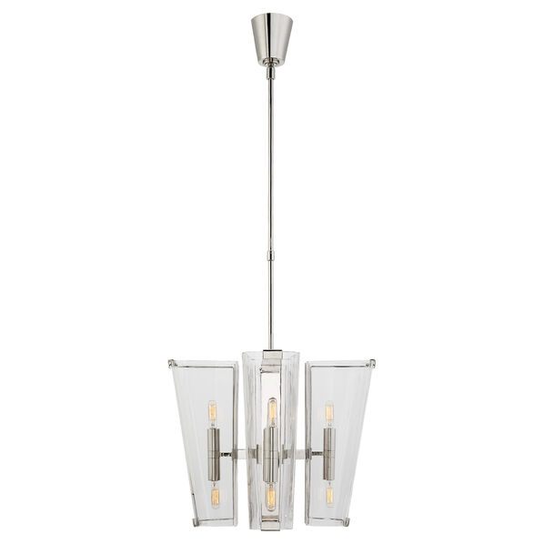 Alpine Small Chandelier with Clear Glass