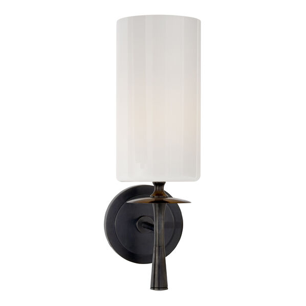 Drunmore Single Sconce with White Glass Shade