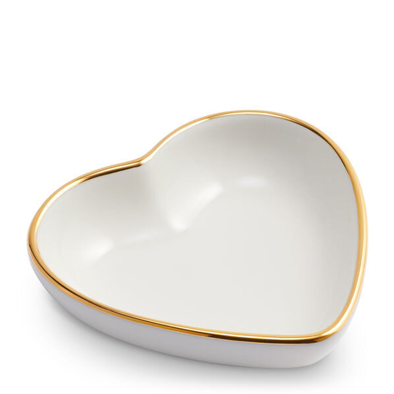 Heart Dish with Gold Rim