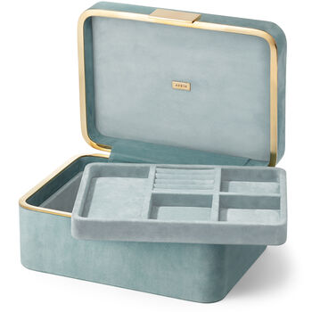 Beauvais Suede Jewelry Box
