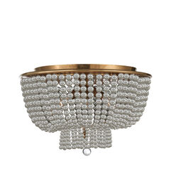 Jacqueline Flush Mount with Clear Glass