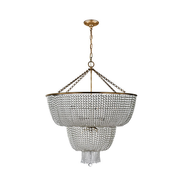 Jacqueline Two-Tier Chandelier with Clear Glass