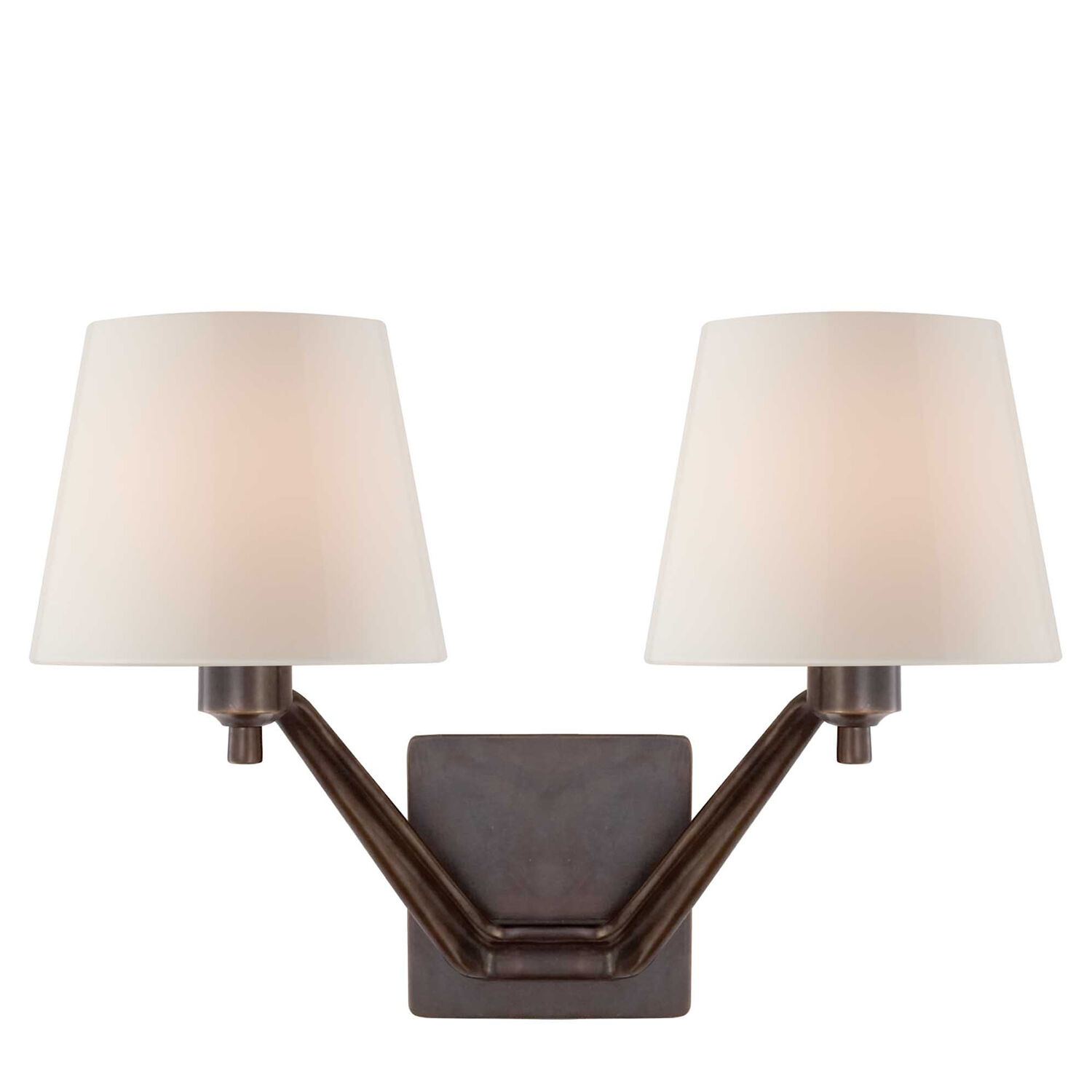 Union Double-Arm Wall Sconce with Glass Shade