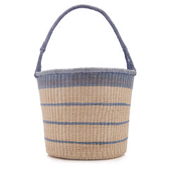 Striped Bucket with Bow Inner Lining