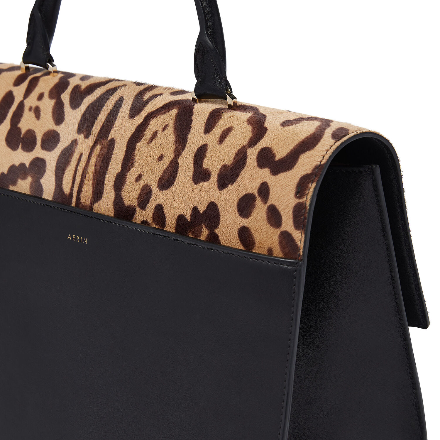 LEATHER & LEOPARD PONY TOP HANDLE