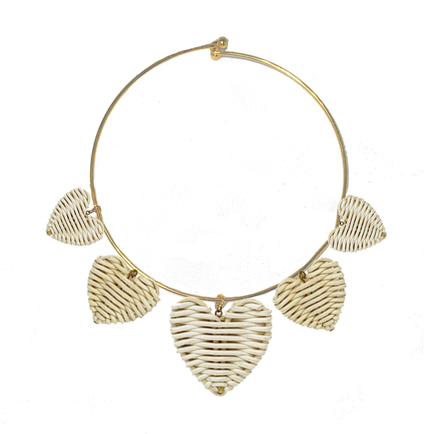 Rattan Heart Necklace