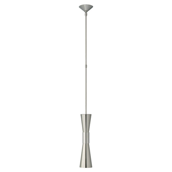 Clarkson Medium Narrow Pendant in Polished Nickel