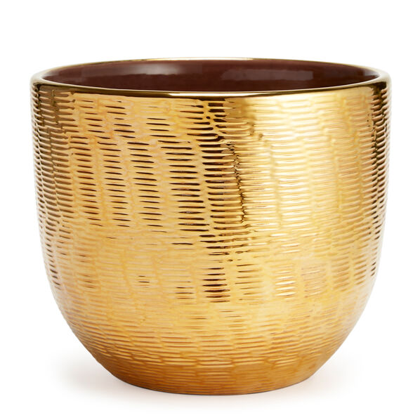 Textured Gold Cachepot, Large