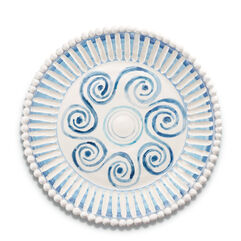 Hand-Painted Striped Plate