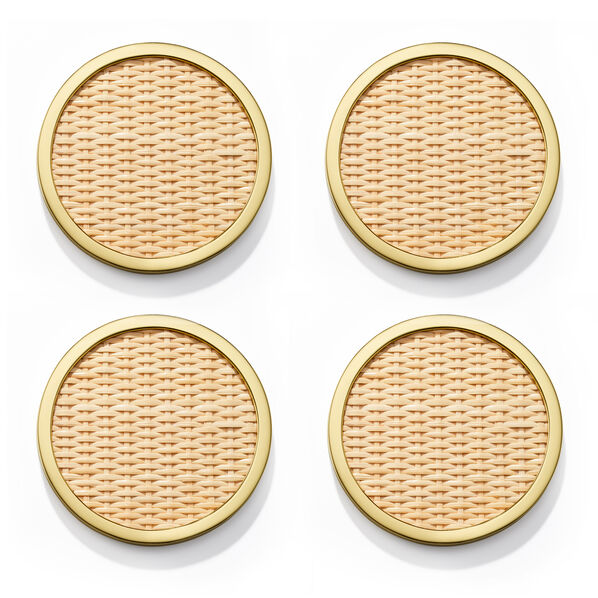 Colette Cane Coaster, Set of 4