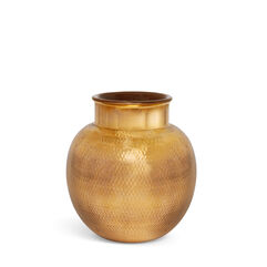 Textured Gold Sphere Vase