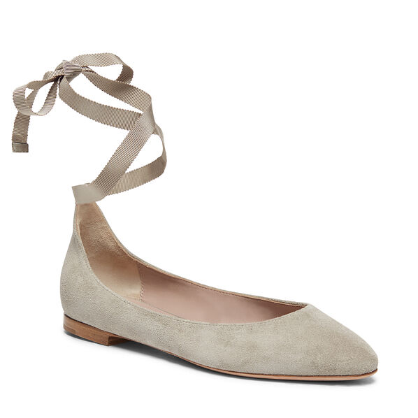 Suede Pointed Toe Ballet Flat