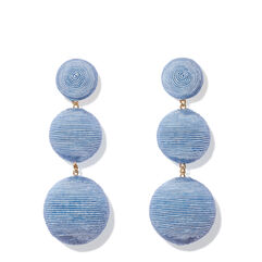 Classic Three Drop Earring, Periwinkle