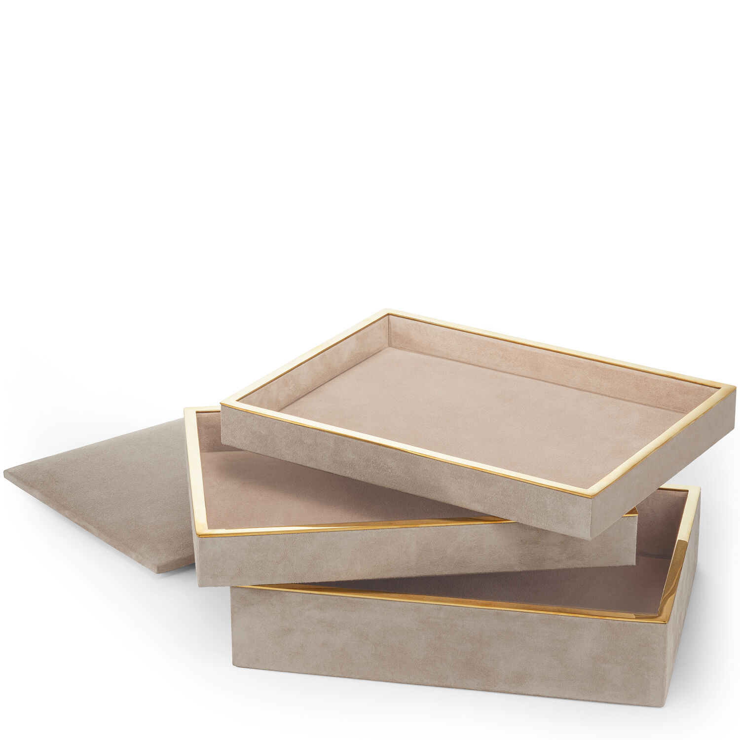 Valentina Suede Stacked Jewelry Box