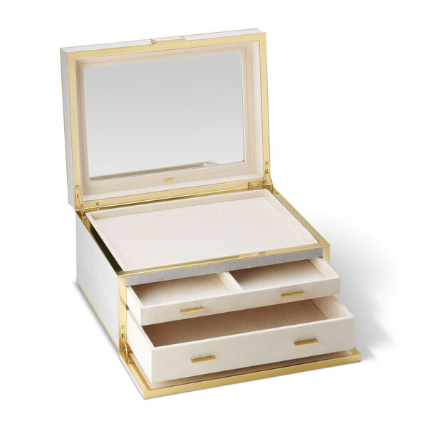 Classic Shagreen Luxe Jewelry Box