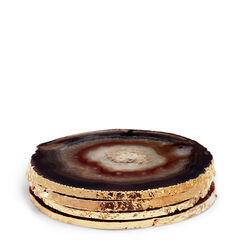 Black Agate Coaster, Set of 4