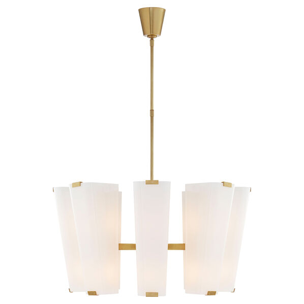 Alpine Medium Chandelier with White Glass
