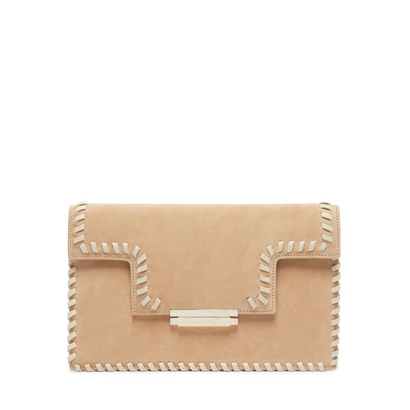 Suede Whipstitched Clutch