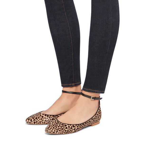 LEOPARD PONY POINTED BALLET FLAT