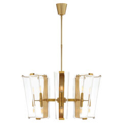 Alpine Medium Chandelier with Clear Glass