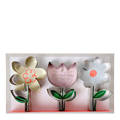 Flower Cookie Cutters, Set of 3
