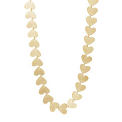 Heart-Shaped Yellow Gold Necklace