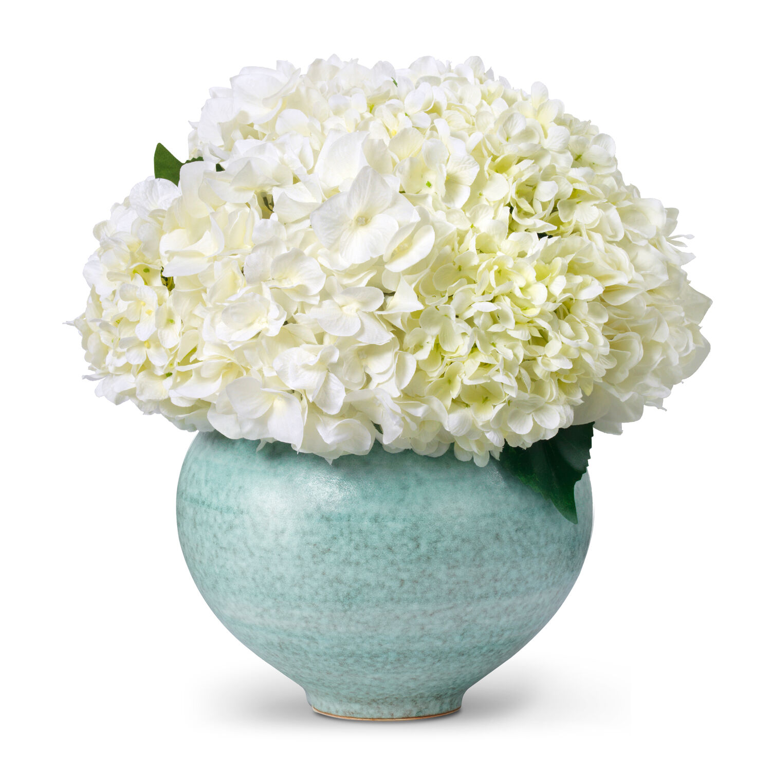 White Hydrangea and Calinda Moon Vase