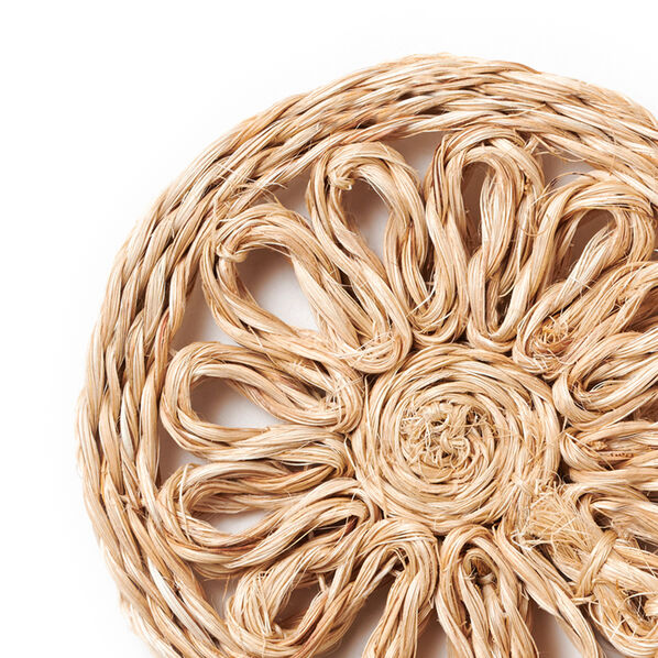 Raffia Coaster, Set of 4