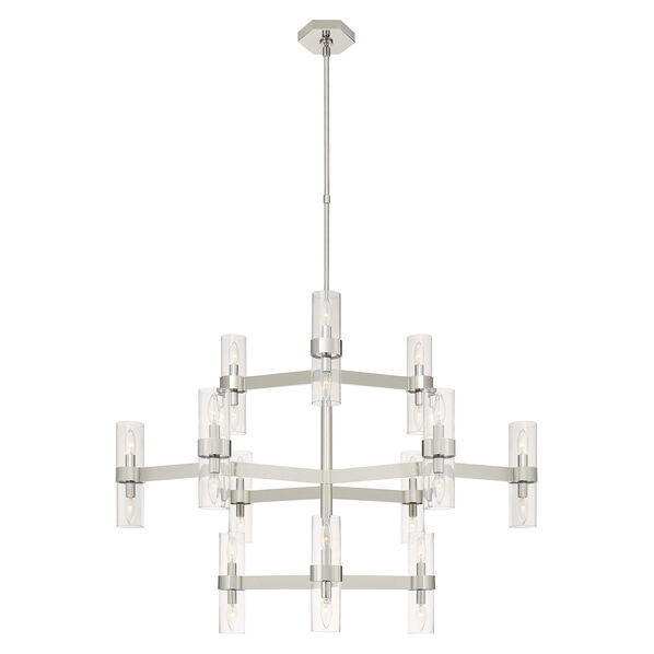 Margita Medium Chandelier with Polished Nickel