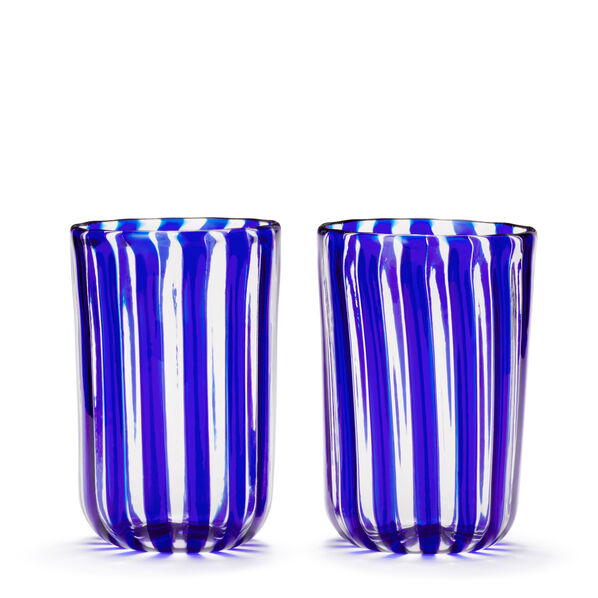 Artisanal Stripe Tumbler, Set of 2