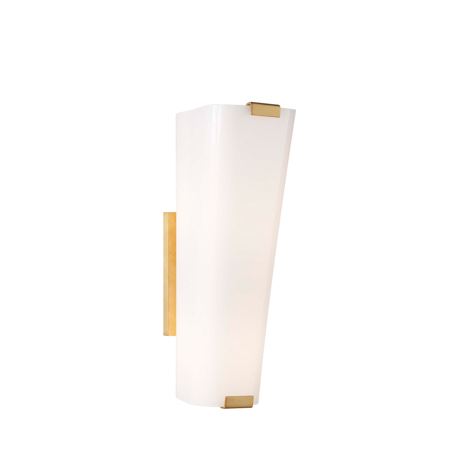 Alpine Single Sconce with White Glass