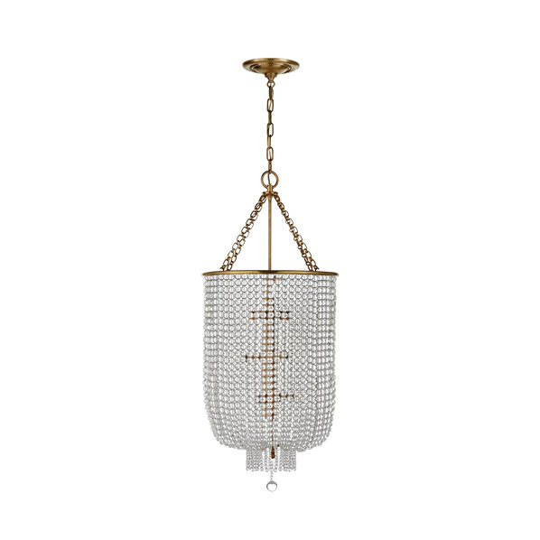 Jacqueline Long Chandelier with Clear Glass