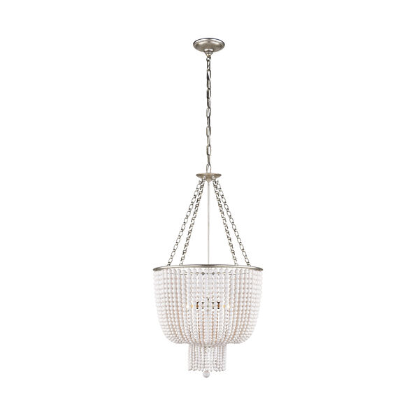 Jacqueline Chandelier with White Acrylic