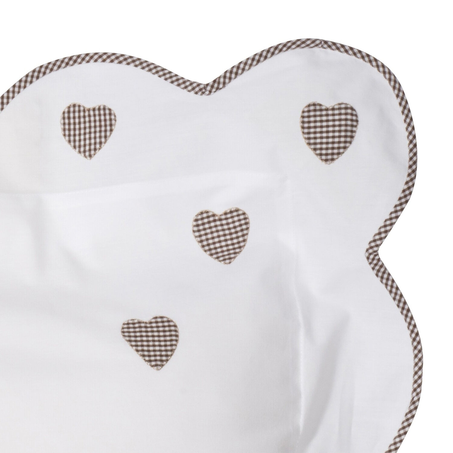 Brown Gingham Scattered Hearts, Set of 2
