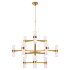 Margita Medium Chandelier with Antique Brass