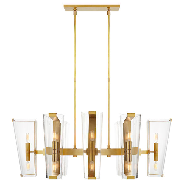 Alpine Medium Linear Chandelier With Clear Glass