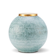 Calinda Round Vase, Blue Grotto