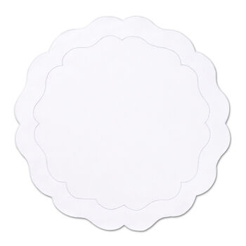 Round Scalloped Placemat